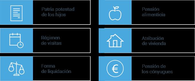 Elementos básicos del convenio regulador