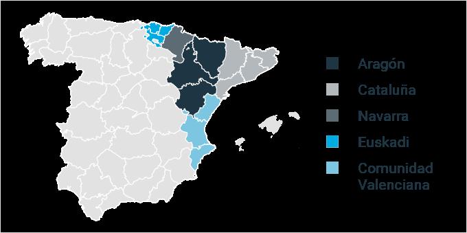Provincias que optan mayoritariamente por la custodia compartida